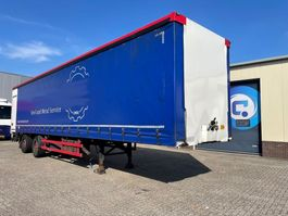 sliding curtain semi trailer Vogelzang VO1  2-assige schuifzeilen trailer - laadklep - gestuurde as 2000
