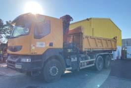 tipper truck Renault Kerax 380 -26 6x4 Side Dump Tipper with Crane 2011