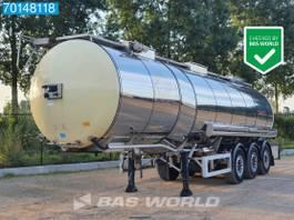 tank semi trailer semi trailer Feldbinder TSA 33.3-3 Lebensmittel Isoliert Heizung 1 comp. 32.500Ltr 2001