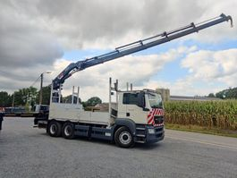 drop side truck MAN TGS 33 6x4 Euro5 Kraan HIAB 377 2010