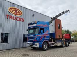 crane truck Scania R164 Scania 164 580 king + Palfinger 17 t/m kraan 2003