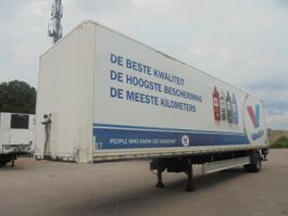 closed box semi trailer Fliegl SES210 STUURAS 2011