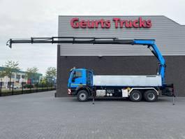 tipper truck Iveco Trakker 450 6X4 + 2 SIDE TIPPER/TIPPER  + PALFINGER PK 29002 E KRAAN/KRAN/CRANE/GRUA 2014