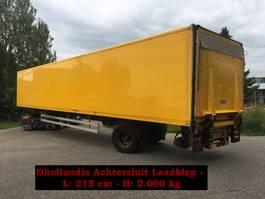closed box semi trailer Pacton TBD122 - 1 As Oplegger Gesloten, OK-34-SF 2008