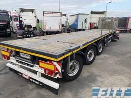 flatbed semi trailer Max Trailer MAX210 - uitschuiver 7,50mtr - 3ass gestuurd 2019