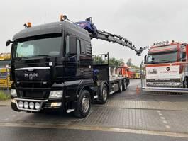 drop side truck MAN TGA 37.400 8x2 Kran PM 85027+J1204.20 Funk 2007