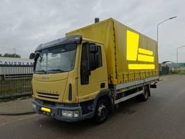 box truck Iveco EUROCARGO 75E16 EURO 5 / ZEILEN HUIF / OPEN LAADBAK / BORDEN / HOLLAND TRUCK !! 2007