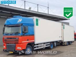 refrigerated truck DAF XF 105 6X2 SSC 2x Tanks Standklima Liftachse Euro 5 2012