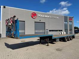 lowloader semi trailer Lecitrailer 3-axle open stepframe lowbed trailer 2009