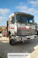platform truck Iveco Turbostar 190 6X2 26 ton air con left hand drive. 1990