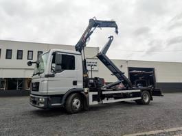 container truck MAN TGL 12 Containerhaaksysteem Kraan HIAB 088 Euro5 2014