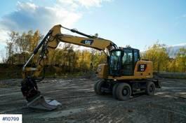 wheeled excavator Caterpillar M314F wheeled excavator w / rotor tilt and 2 bucke 2016