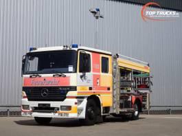 box truck Mercedes-Benz Actros 1853 L MP 1 - feuerwehr - fire brigade - V8 - 3.000 ltr watertank - Dubble ca... 2001