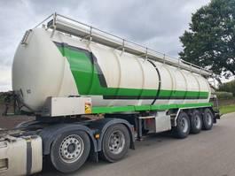 semirreboque cisterna Van Hool rvs 36m3 mestoplegger / tankoplegger 1993