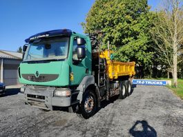 tipper truck Renault Kerax 410 DXI-GRUE ATLAS 16T/M-BIBENNE 6X4- only 290 000kms