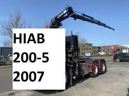 loader crane Hiab 200-5 + 5E & 6E FUNCTIE + REMOTE CONTROL + 5X HYDRAULIC EXTENSION 200-5 2007