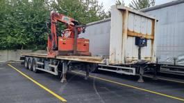 flatbed semi trailer Lecitrailer Oplegger met kraan Kennis type 16000R 2010