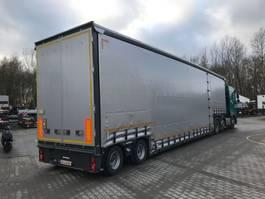 lowloader semi trailer Meusburger 2-Achs-Jumbo-Tiefbett mit Planenaufbau