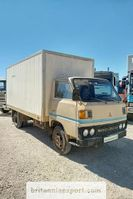 box van Mitsubishi FE110 2.7 diesel 3.5 ton isothermic box van left hand drive. 1981