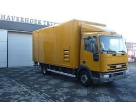 box truck Iveco EuroCargo 120 EL 17 4X2 Closed box with taillift and sidedoor 2002