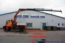 platform truck Unimog U400 4x4 Kran PK12502 Funkfernbedienung Klima 2005
