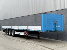 flatbed semi trailer Fliegl SDS 390 / Open oplegger / Coilgoot / Alu. borden / BPW schijf / NL Trailer 2008