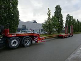 lowloader semi trailer Faymonville 4 ASSIGE DIEPLADER / UITSCHUIFBAAR / HYDR RAMPEN / STUURASSEN / PERFECT CONDITION !! 2014