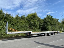 flatbed semi trailer Möslein ST 3-Plato 9,4 3 Achs Satteltieflader Plato 45 t GGfür Fertigteile, Baum... 2021
