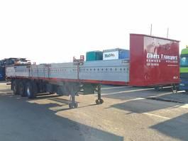 flatbed semi trailer Netam-Fruehauf ONCR36-324 Flatbed with side boards 1984