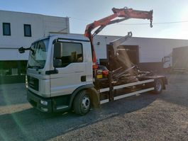 container truck MAN TGL 12 Euro5 containersysteem kraan Palfinger PK8501 2014