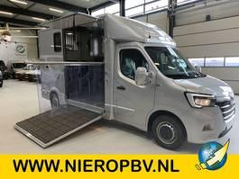 horse closed box lcv Renault 2.3DCI Nieuw Paardenwagen Hengsten-Opbouw Airco Navi Camera Bomvolle auto zie omschrijving ! 2021