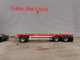 container chassis trailer Floor Huffermann HAR 2410 L Container transport Like New! 2008