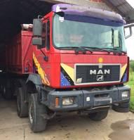 tipper truck MAN 35.463 8x6 - Meiller tipper 1997