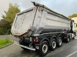 tipper semi trailer Carnehl CHKS/HH 30m³ Liftachse SAF Stahlmulde Hardox 2016