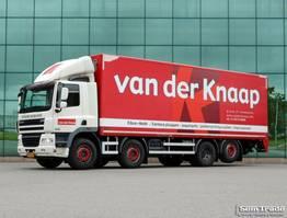 box truck DAF CF 85 FAX EURO 5. 8x2. 2500KG TAIL LIFT 519000 KM ONLY! 2011