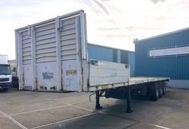 flatbed semi trailer Groenewegen DRO-12-24 FLATBED WITH EXTRA STORAGE HOLES (DRUM BRAKES / WOODEN FLOOR) 1988