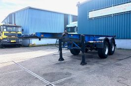 container chassis semi trailer Van Hool S 223 2-AXLE FULL STEEL 20FT CONTAINER TRAILER (FULL STEEL SUSPENSION) 1991