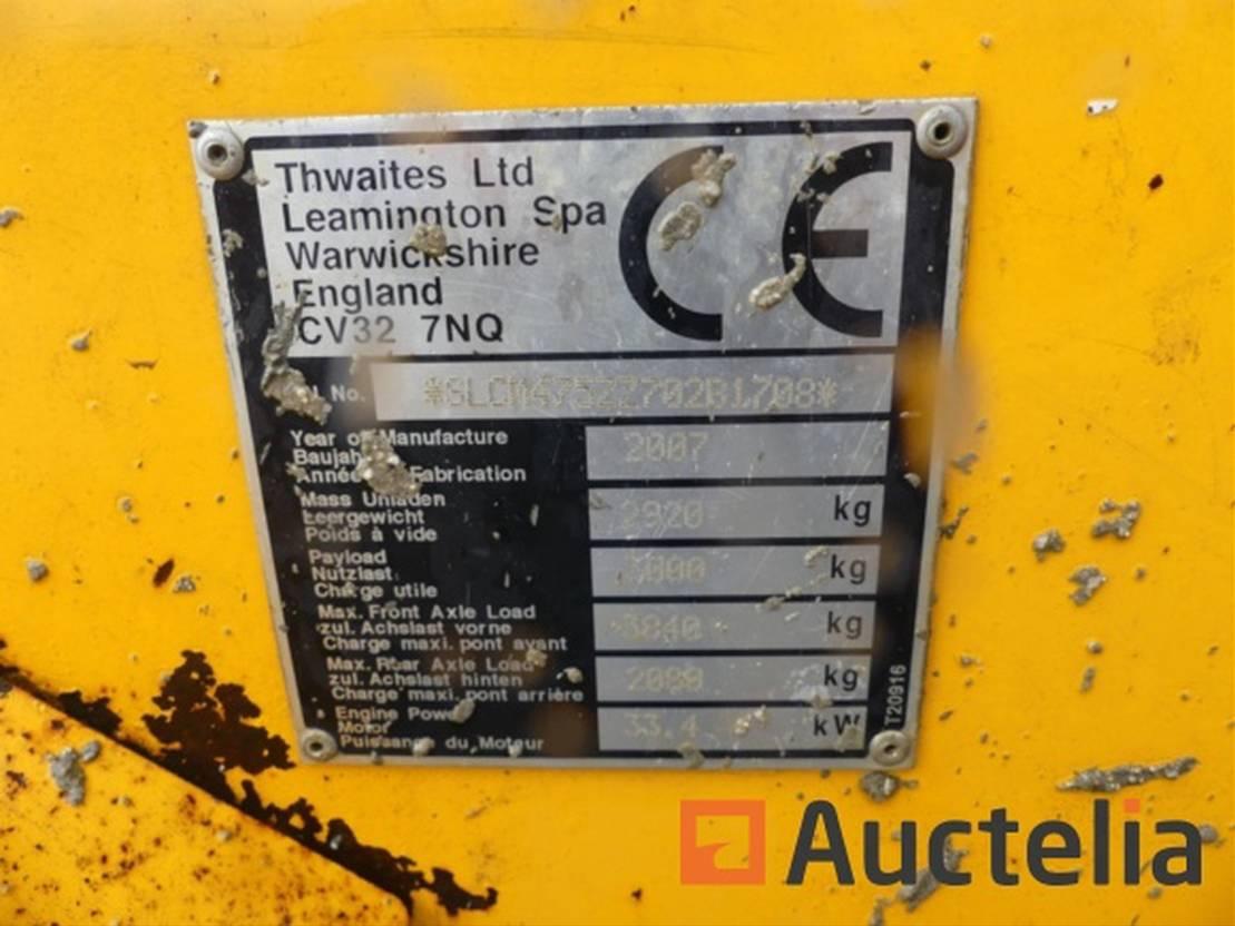 wheel loader Thwaites 3T 2007