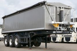 tipper semi trailer Langendorf SKA 24/29 Kippmulde Aluaufbau Liftachse Podest 2012