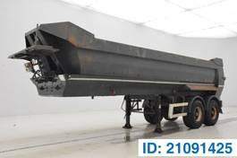 tipper semi trailer Kaiser 23 cub in steel 2001