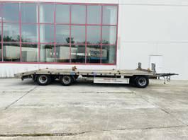 lowloader trailer Möslein TF3 Schwebheim 3 Achs Tiefladeranhänger gerade Ladefläche 2018