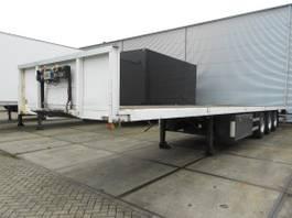 flatbed semi trailer Pacton 3 As T3-001 Oplegger Open, OG-71-PK 2001
