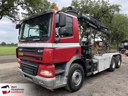 container truck DAF 85.360 6x4 kabelsysteem met Hiab kraan remote control 2007
