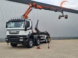 crane truck Iveco Trakker 410 AD410T45 EEV 8x4, 19TM Kraan, Crane, Kran - 20T Haakarm, Hooklift, Abrol... 2011