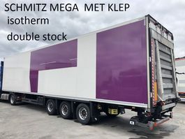 refrigerated semi trailer Schmitz Cargobull 3 ass ISO (geen koelmotor) oplegger met 2T klep, 95/105 cm trekker 2015