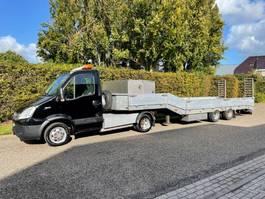 light duty tractor unit - lcv Iveco 35C17 EURO 5 12 T be trekker + 10 T veldhuizen Dieplader 7610 Kg laadver... 2011