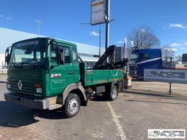 platform lcv Renault S120 Full steel - Belgium - Kran / Grue / Crane - Mech pump 1995