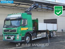 platform truck Volvo FM 420 6X2 Lift+Lenkachse Euro 3 Hiab 166E-5 Hipro 2002