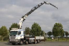 crane truck Scania R124 8x2  COPMA 600A6  '2007 JIB WINCH  STEERING AXLE 2004