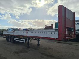 flatbed semi trailer Pacton T3-004 Flatbed with aluminum side boards / Hückepack 1999